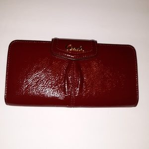 Patent leather coach wallet
